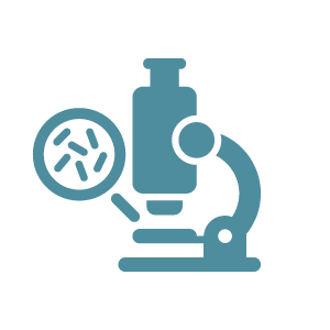 Icon of Microscope viewing microbes
