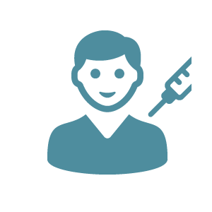 Icon of young boy with syringe