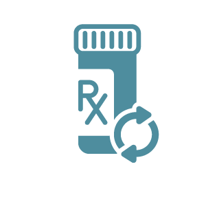 Icon of prescription drug bottle